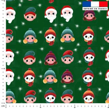 Personnages de Noel - Fond vert - Création Créasan'