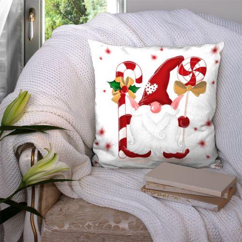 Coupon 45x45 cm rouge motif lutin et douceur - Création Créasan'