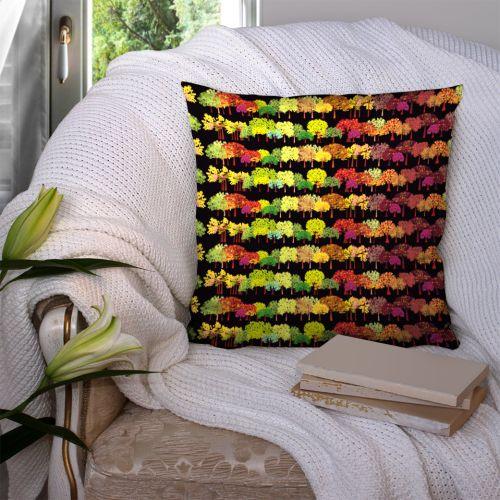 Arbres multicolores - Fond noir - Création Lita Blanc