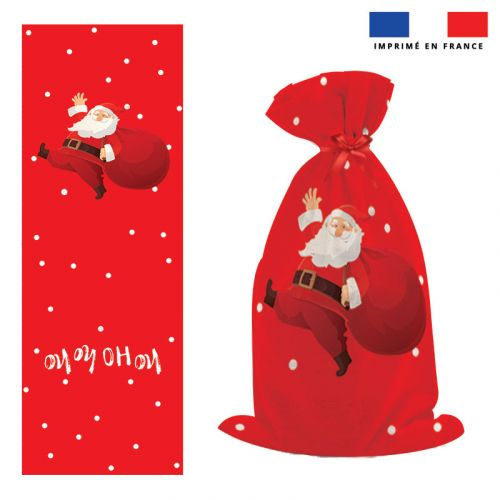 Kit hotte de Noel motif Père Noel