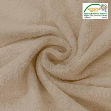 Tissu éponge crème