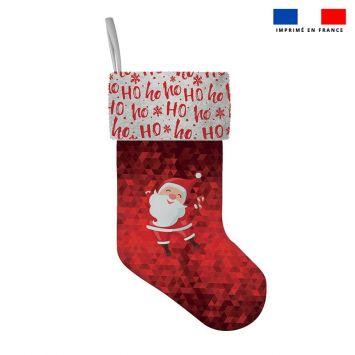 Kit chaussette de noel motif père noel