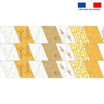 Coupon pour fanions motif girafe - Création Anne Clmt