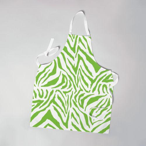 Patron imprimé pour tablier motif zèbre vert - Création Anne Clmt