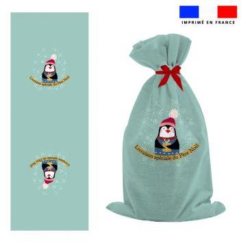 Kit hotte de Noel motif pingouin