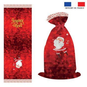 Kit hotte de Noel motif père noel rouge