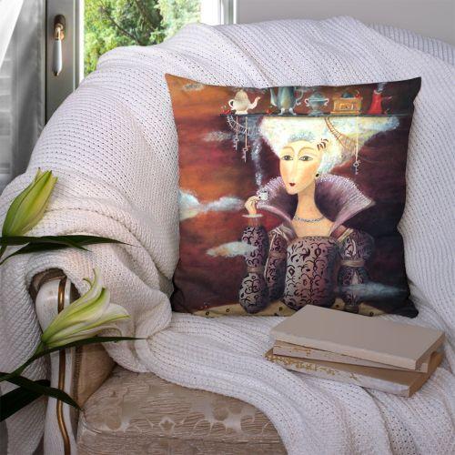 Coupon 45x45 cm motif tableau femme - Création Lilou L