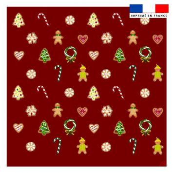 Coupon 45x45 cm motif gourmandise rouge - Création Créasan'