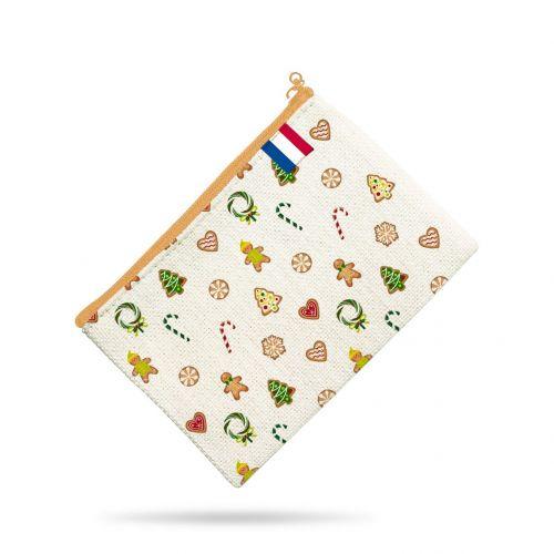 Kit pochette blanc motif gourmandise - Création Créasan'