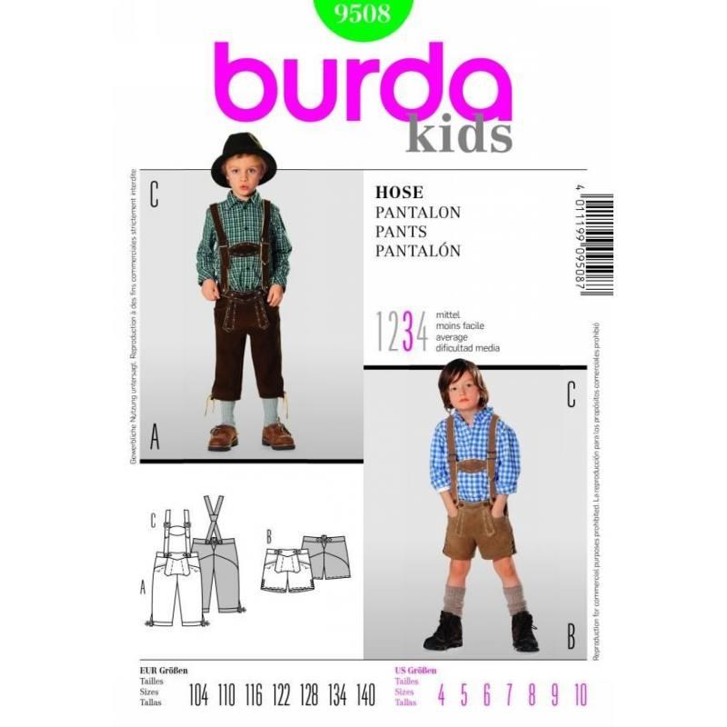 Burda 9508 Pantalon 3 Taille : 4-10ans
