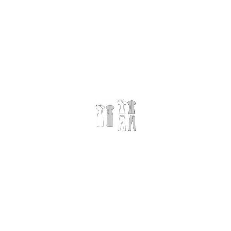 Patron Burda N°2773 Robe asiatique carnaval : Suzie Wong Taille : 34-42