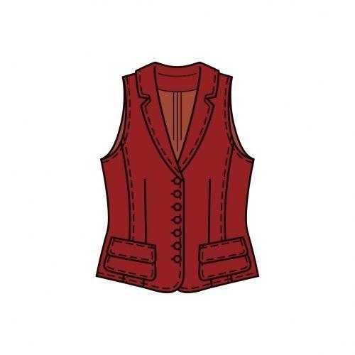 Patron N°7769 Burda style : Gilet Taille : 38-58ans