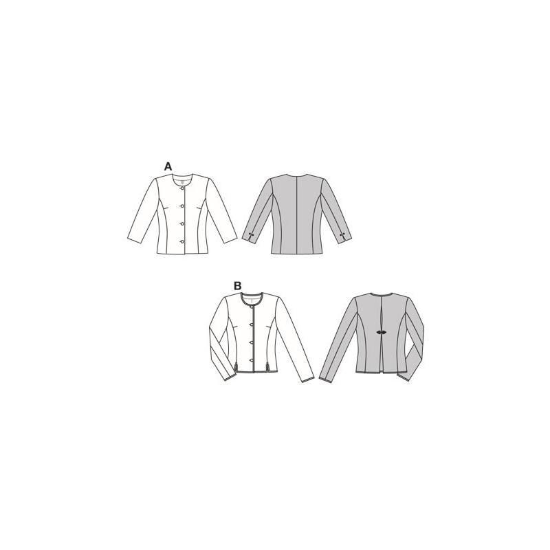 Patron N°8949 Burda style : Veste Taille : 34-46