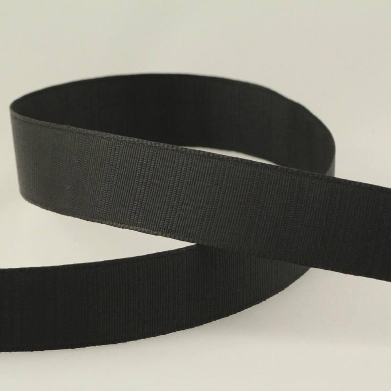 Ruban gros grain noir - 30mm