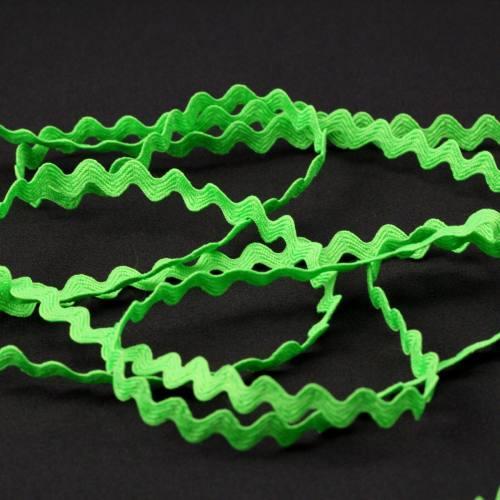 Croquet 5mm vert fluo zig-zag