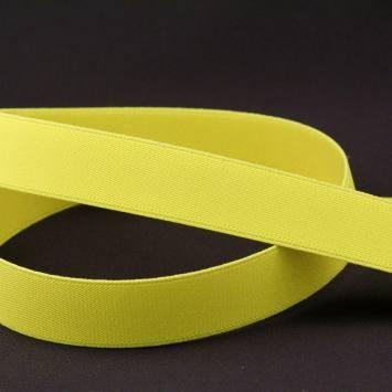 Elastique ceinture jaune fluo