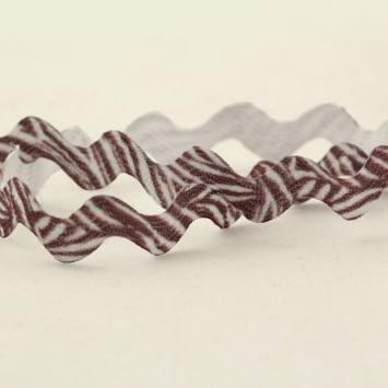Croquet motif zebre 6 mm