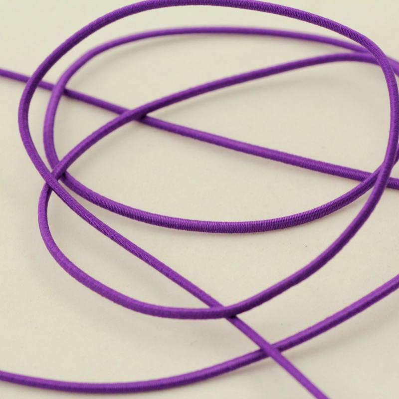 Cordon élastique 3 mm - violet