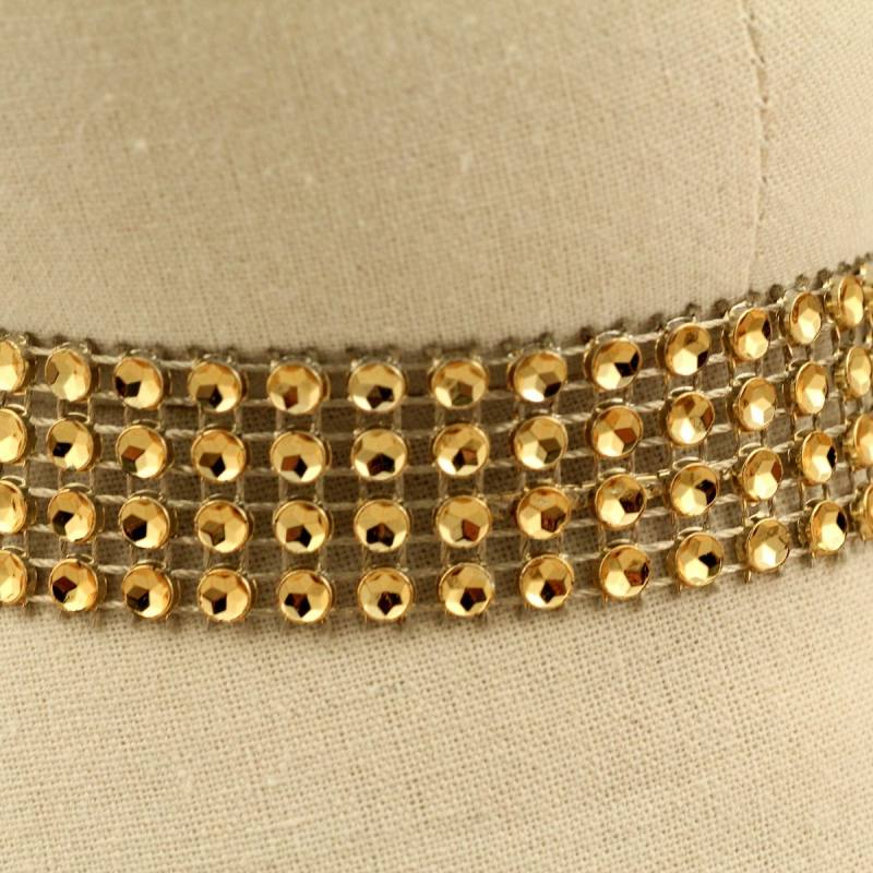 Galon perles paillettes - Or
