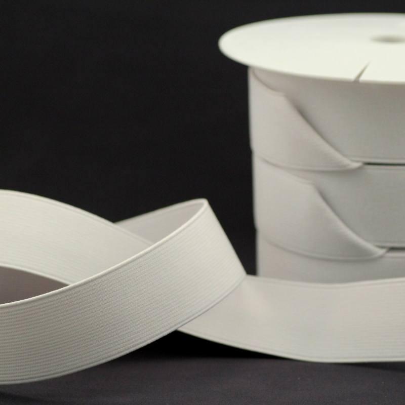 rouleau de 25m d 39 lastique cotel blanc 35 mm tissus price. Black Bedroom Furniture Sets. Home Design Ideas