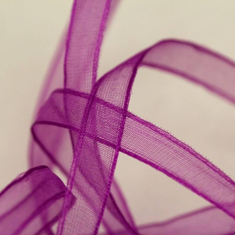 Ruban de mousseline 6mm - violet