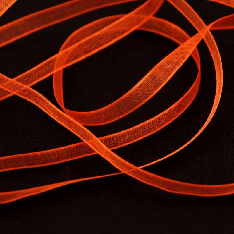 Ruban de mousseline 6mm - orange foncé