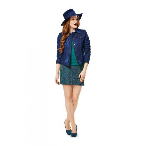 Patron Burda N°7018 Style : Veste Taille : 32 à 44