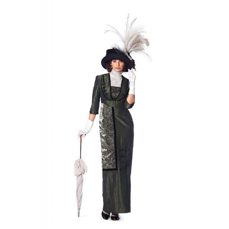 Patron Burda N°7029 Style : Robe Belle Epoque Taille : 36 à 50