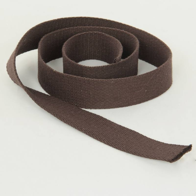 Sangle Coton 30mm marron foncé