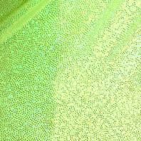 Lycra vert pomme micro pailleté