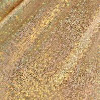 Lycra beige micro pailleté