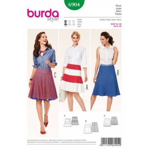Patron Burda 6904 : Jupe 34-46
