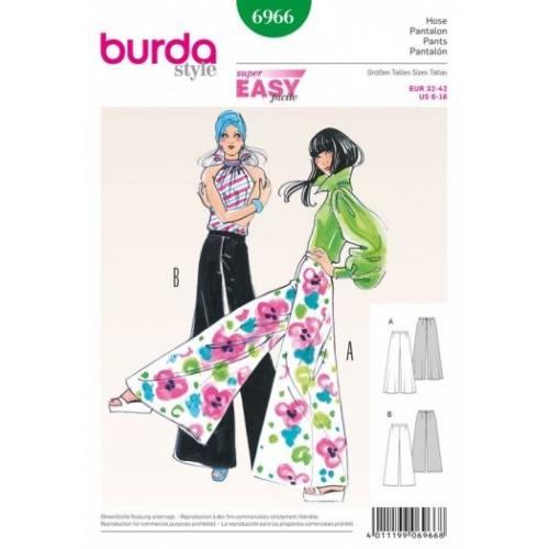 Patron Burda 6966 : Pantalon 32 à 42