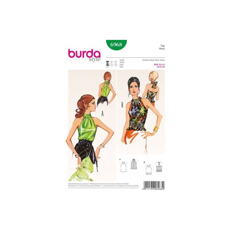 Patron Burda 6968 : Top 32 à 42