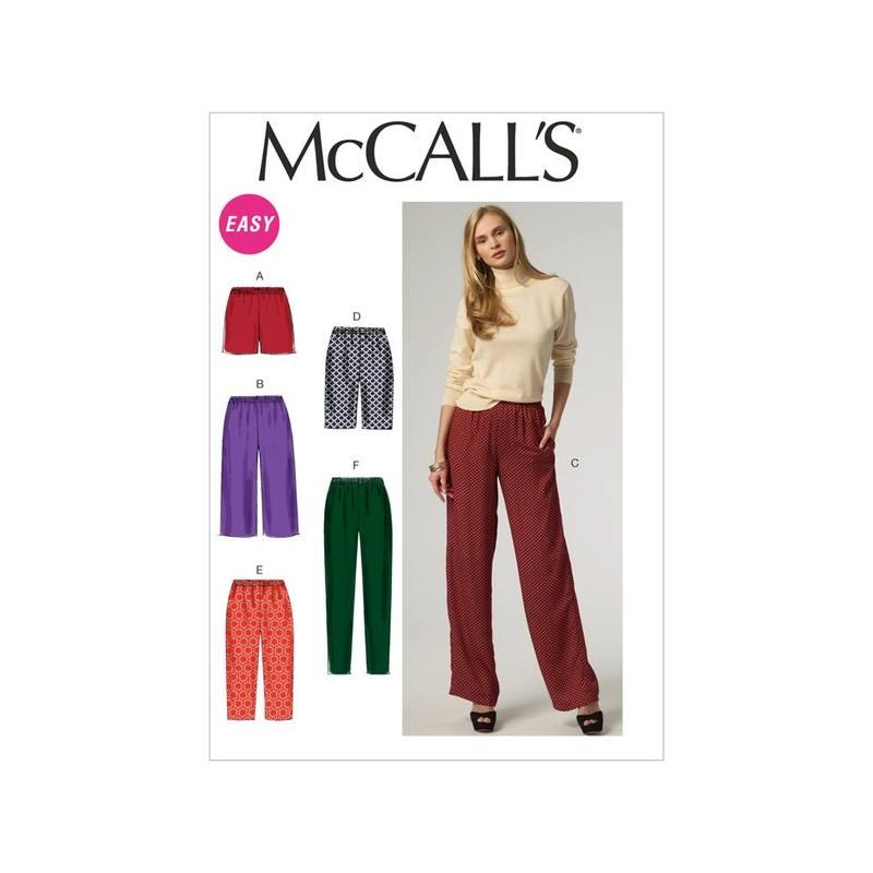 Patron McCall's M6843 : Short et pantalon L, XL et XXL