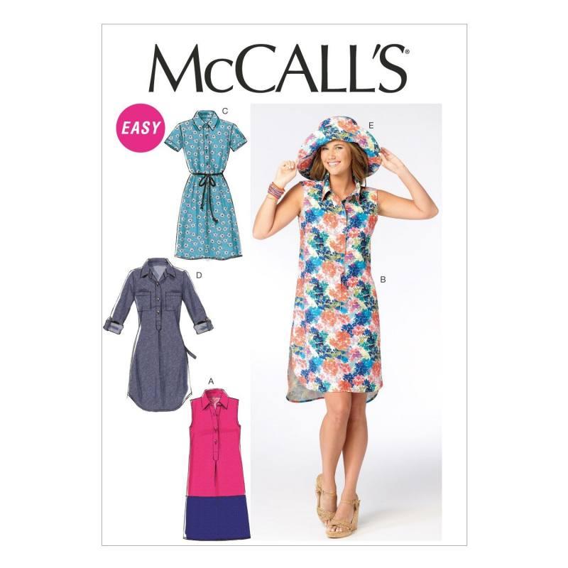 Patron McCall's M6885 : Robes et chapeau T36 à 44