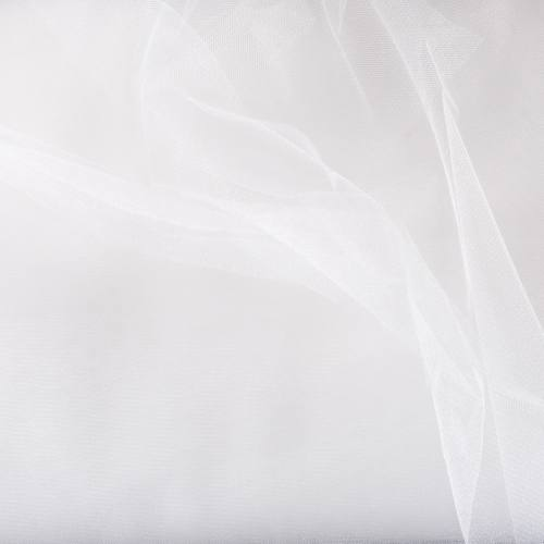 Tulle brillant 300 cm blanc