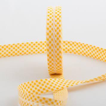 Bobine de biais 20 M - vichy jaune