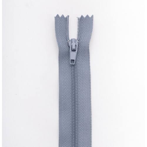 Fermeture 18cm polyester non séparable gris col 170