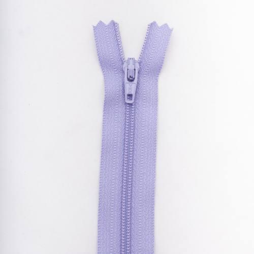 Fermeture 35 cm polyester non séparable violet Col 127
