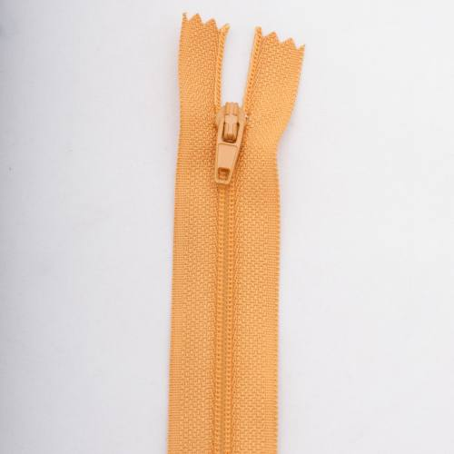 Fermeture 20 cm polyester non séparable jaune Col 108