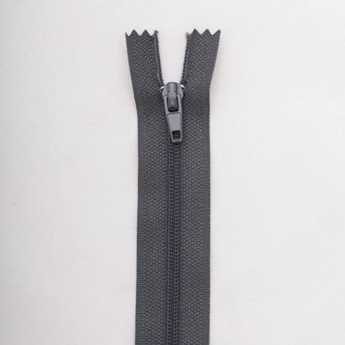 Fermeture 50 cm Polyester non séparable gris col 173