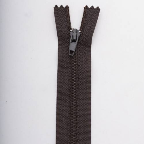 Fermeture 50 cm polyester non séparable marron Col 161