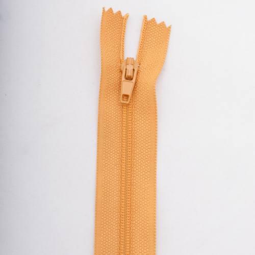 Fermeture 45 cm polyester non séparable jaune Col 108