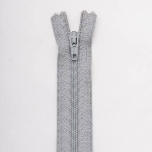 Fermeture 35 cm Polyester non séparable gris col 168