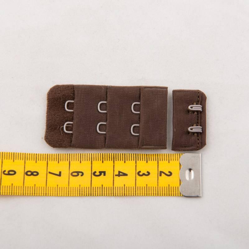 Lots de 5 agrafes 3cm soutien-gorge marrons