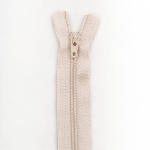 Fermeture 55 cm polyester non séparable beige col 155