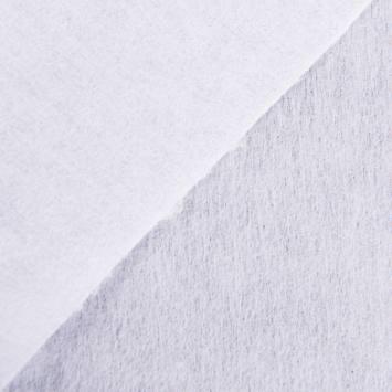 Toile thermocollante lourde blanche