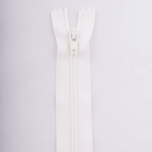 Fermeture 12 cm polyester non séparable écru col 154