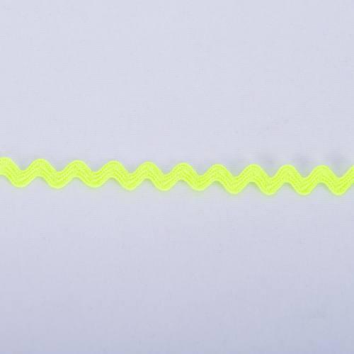 Croquet 5mm jaune fluo zig-zag
